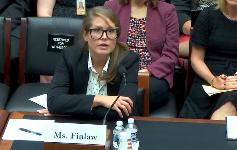 Kelly Finlaw testifying to Congress. (Photo: SPAN)