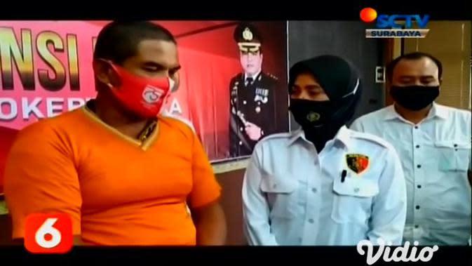 VIDEO: Polisi Tangkap Pengedar Uang Palsu di Mojokerto