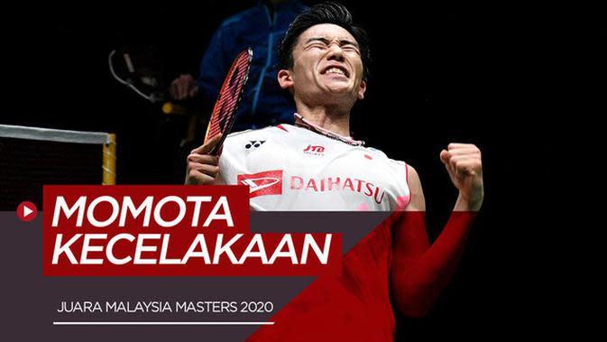 VIDEO: Juara Malaysia Masters, Kento Momota Alami Kecelakaan Mobil