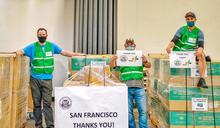 台北市捐贈美國舊金山姊妹市防疫物資(1) (圖)