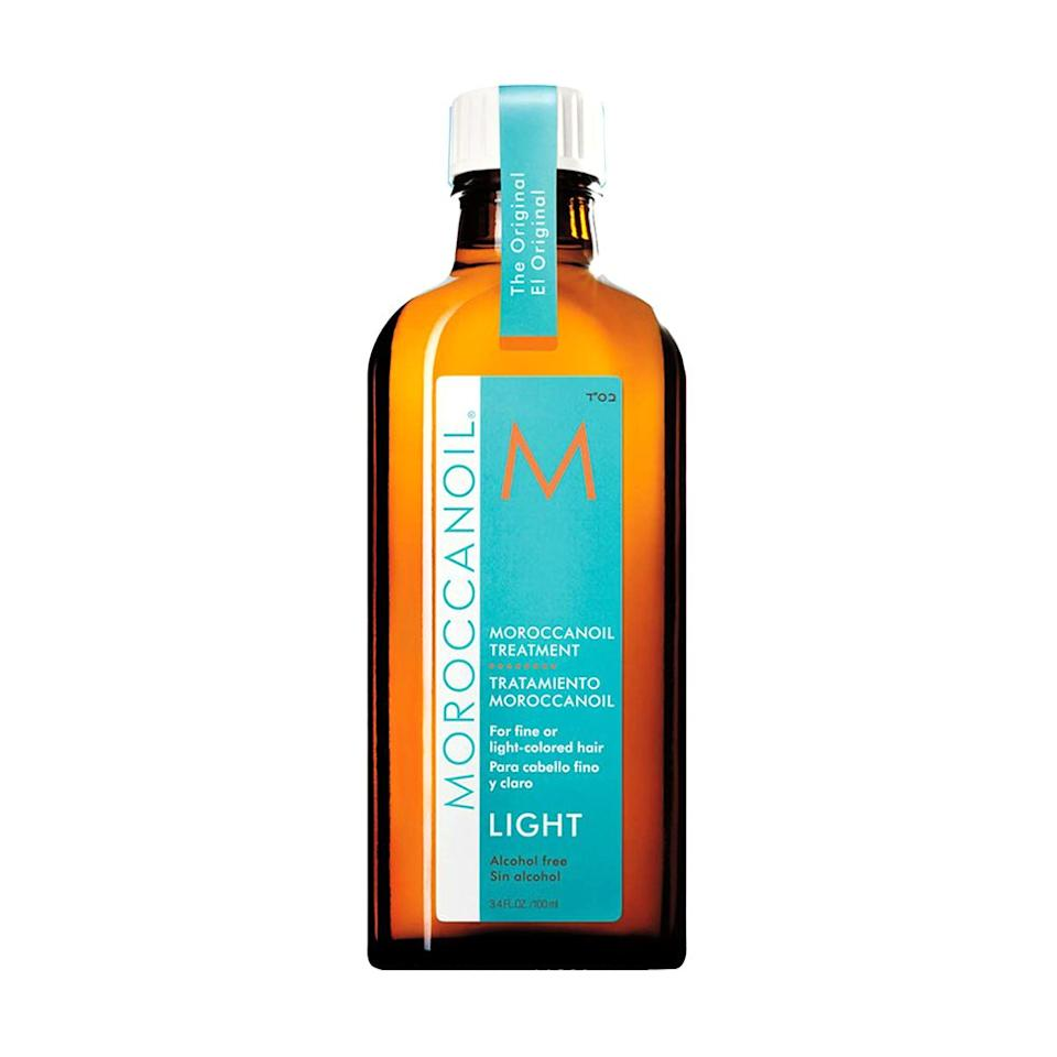 "<p><strong>MOROCCANOIL</strong></p><p>amazon.com</p><p><strong>$44.00</strong></p><p><a href=""https://www.amazon.com/dp/B003AY949G?tag=syn-yahoo-20&ascsubtag=%5Bartid%7C2089.g.329%5Bsrc%7Cyahoo-us"" target=""_blank"">Shop Now</a></p><p>Most of the buzz surrounding argan oil can be attributed to this award-winning hair treatment from Moroccanoil. With 1-2 pumps of the ""light"" version, you'll experience benefits like detangled strands, faster dry time, boosted shine, less frizz, and protection for even the most delicate hair. </p>"