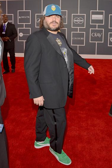 The 55th Annual GRAMMY Awards - Red Carpet: Jack Black