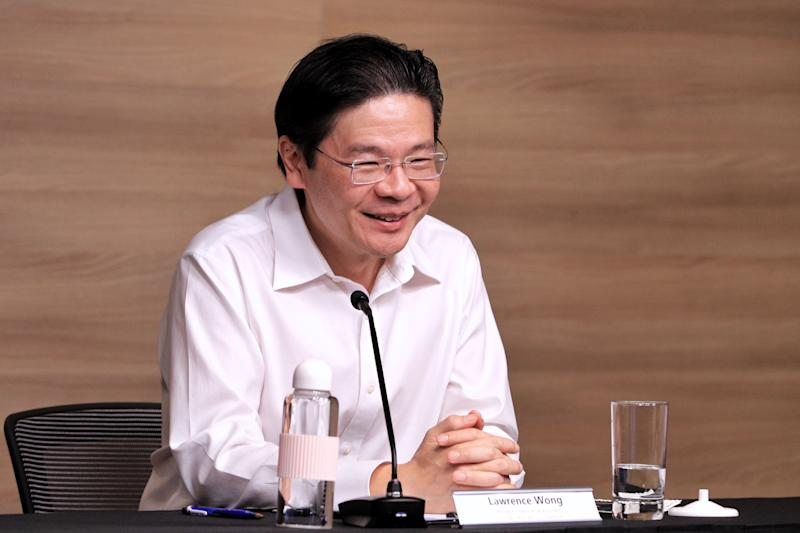 COVID-19 multi-ministry taskforce co-chair Lawrence Wong, addressing a virtual press conference on Tuesday, 31 March 2020. PHOTO: Ministry of Communications and Information