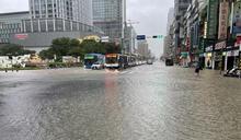 北市午後大豪雨 信義區多處淹水(1) (圖)