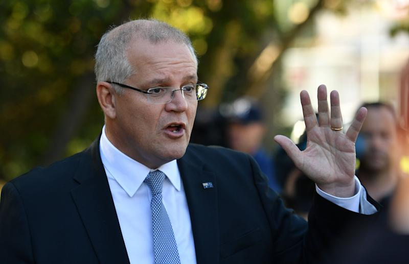 Prime Minister Scott Morrison had a score of 42 out of 100. Source: AAP