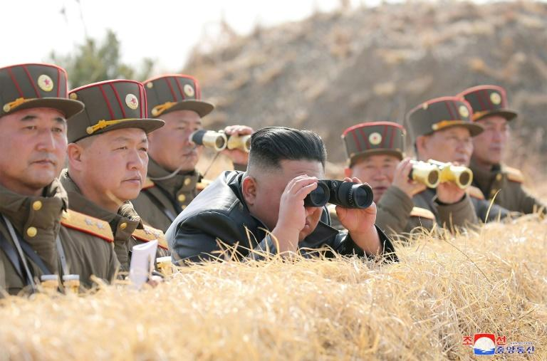 """North Korean state media said Kim oversaw an """"artillery fire competition"""" among combined units of the army -- the day before he observed demonstration fire of a """"tactical guided weapon"""""""