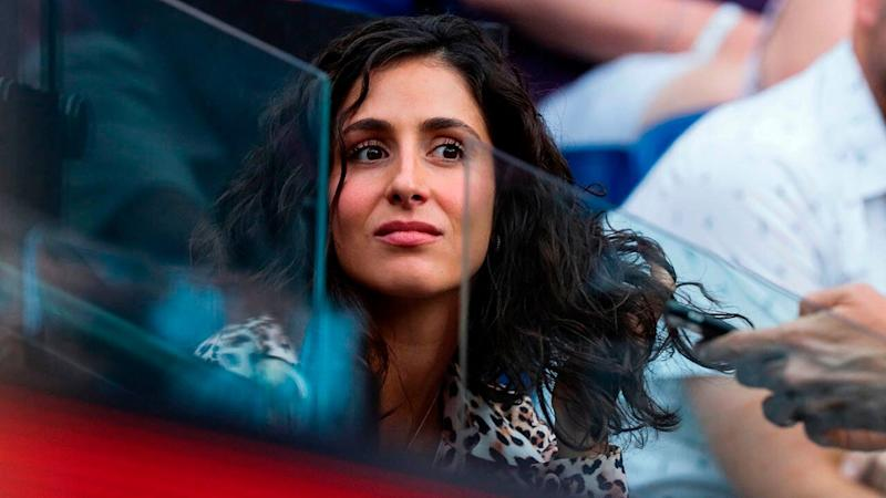 Xisca Perello at the Australian Open. (Photo by DAVID GRAY/AFP/Getty Images)