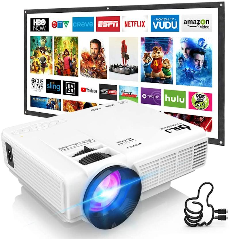 Save $50 on the DR. J Professional HI-04 Mini Video Projector. Image via Amazon.
