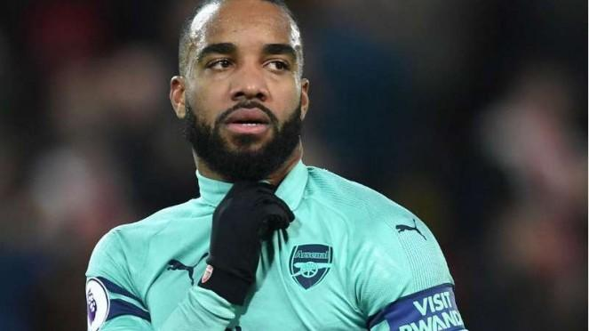 Striker Arsenal, Alexandre Lacazette.