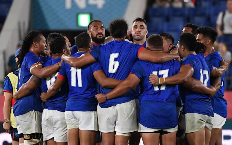 Manuma Samoa have been stuck in quarantine in New Zealand since late March - WILLIAM WEST/AFP