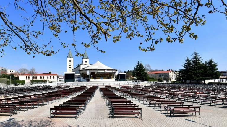 The pilgrimage town of Medjugorje is usually packed with thousands of people for Easter