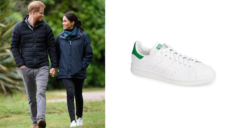 The Duchess of Sussex wore the iconic sneakers on a trip to Abel Tasman National Park in New Zealand (via Getty Images)