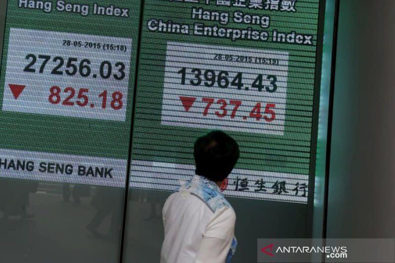 Saham Hong Kong ditutup melemah dengan indeks HSI turun 0,19 persen