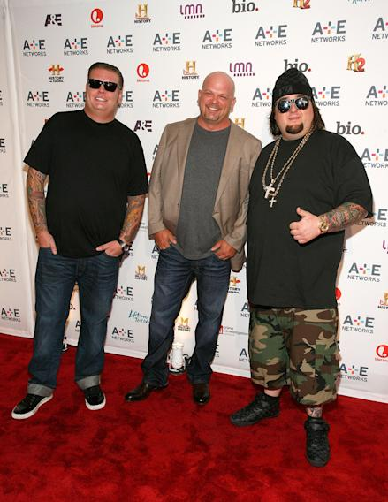 "Corey Harrison, Rick Harrison and Austin ""Chumlee"" Russell"