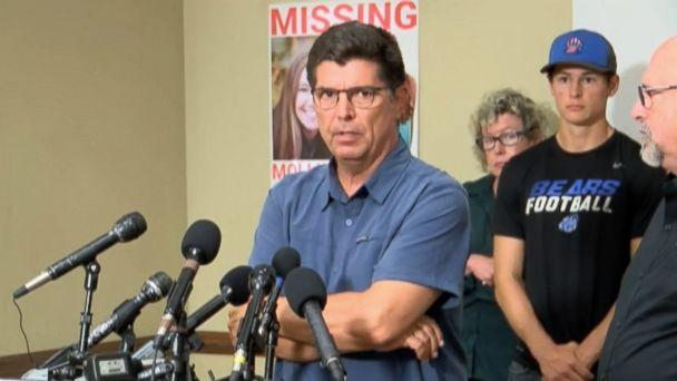 PHOTO: Rob Tibbetts, the father of missing student Mollie Tibbetts, 20, speaks at a press conference in Brooklyn, Iowa, Aug. 2, 2018. (WOI)