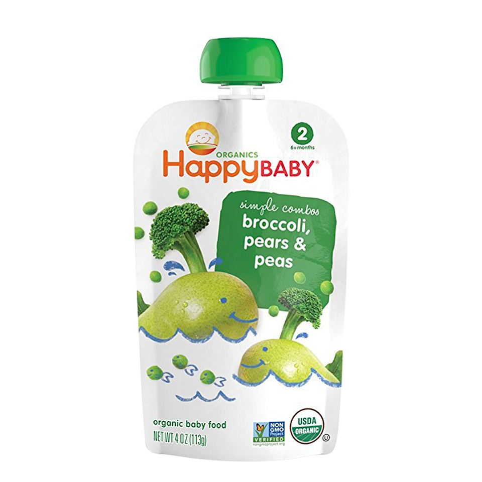 """<p><strong>Happy Family Organics</strong></p><p>amazon.com</p><p><strong>$23.99</strong></p><p><a href=""""https://www.amazon.com/dp/B00XCLFZLS?tag=syn-yahoo-20&ascsubtag=%5Bartid%7C10055.g.31001152%5Bsrc%7Cyahoo-us"""" target=""""_blank"""">Shop Now</a></p><p>Mom Shazi Visram founded Happy Family Organics to provide a wide variety of healthy organic baby food options to parents. They offer 100% USDA organic clearly crafted pouches and jars, as well as hearty meal pouches for Stage 2, and organic oats cereal. <strong>Our little ones loved the pears, zucchini, and peas pouch, and the apples, guavas, and beets pouches were also a hit. </strong>As your child continues to grow, they can enjoy even more Happy Family Organics products, including teethers, puffs, crackers, veggie straws, and meal bowls.</p>"""