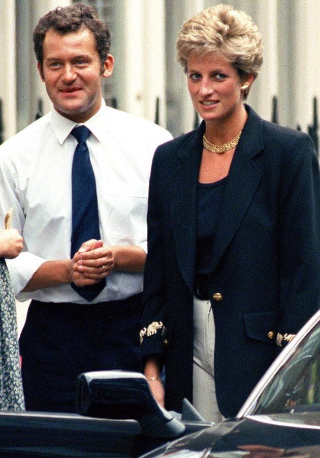 Diana pictured with butler Paul Burrell in 1994. Photo: Getty