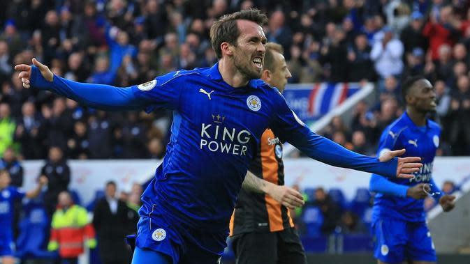 Bek Leicester City, Christian Fuchs. (AFP/Lindsay Parnaby)