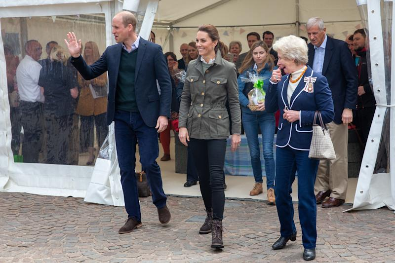 The royals greeted greeted the public in Keswick. Photo: Getty Images