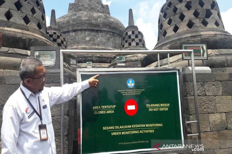 Ada kerusakan, kunjungan ke Candi Borobudur dibatasi sampai lantai 8