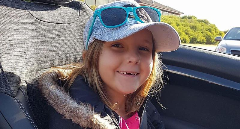 Photo of eight-year-old girl Anita Board who died in freak drag racing crash in Perth in 2017.
