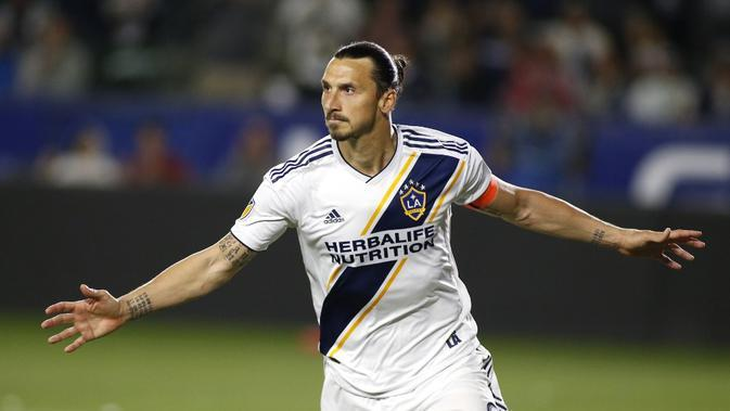 Pemain LA Galaxy, Zlatan Ibrahimovic. (AFP/Katharine Lotze)