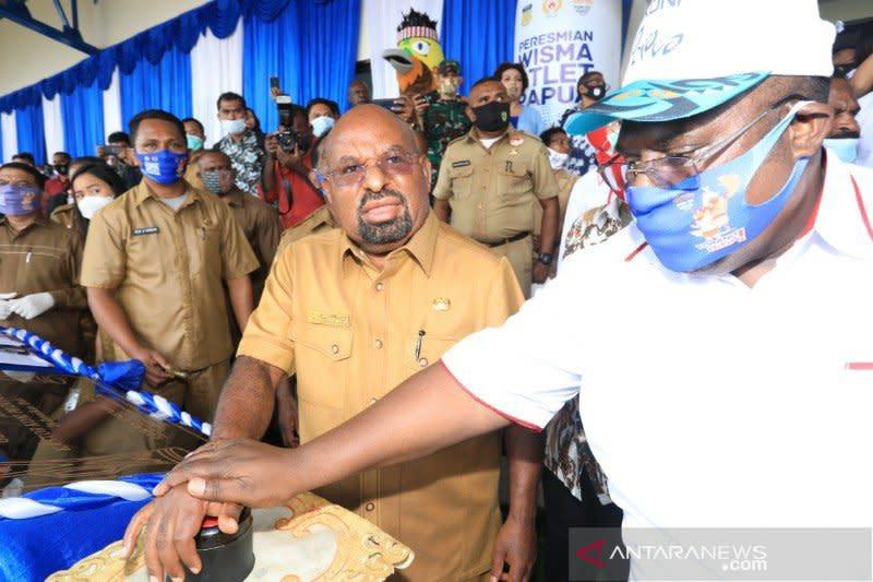 Gubernur Papua resmikan wisma atlet dan kantor KONI