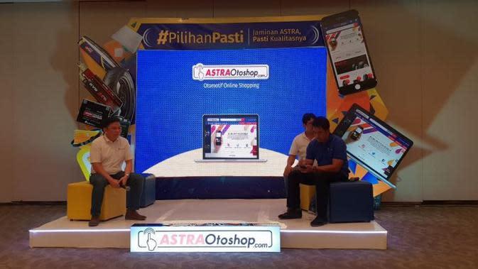 Astra Otoparts meluncurkan situs dan aplikasi pembelian online suku cadang. (Septian/Liputan6.com)