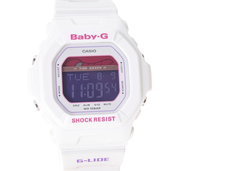casio baby g g shock watch in white, a classic 90s trend