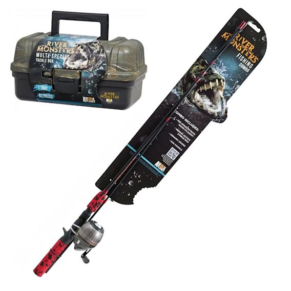 "Animal Planet ""River Monsters"" Tackle Box and Spin Cast Combo"