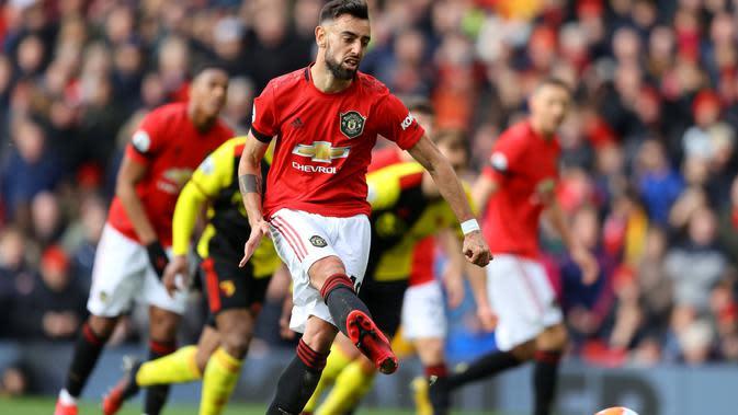 Gelandang Manchester United (MU), Bruno Fernandes (@manutd)