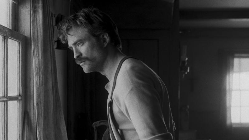 Robert Pattinson in 'The Lighthouse'. (Credit: Universal)