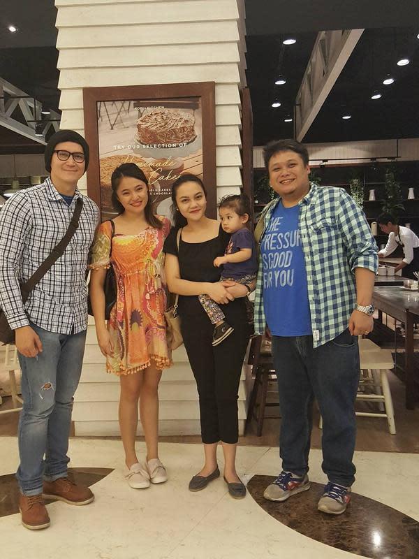 Cecep Reza bersama keluarga (Sumber: Instagram/marcelinolefrandt)