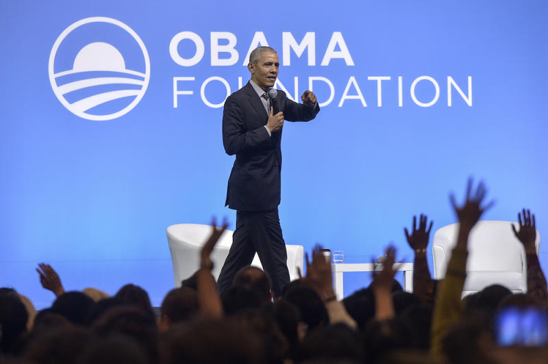 Former US president Barack Obama speaks during the 'How the Asia-Pacific Shaped Us' event in Kuala Lumpur December 13, 2019. Obama said it was important to have a time out from work in order to reevaluate one's life. — Picture by Shafwan Zaidon