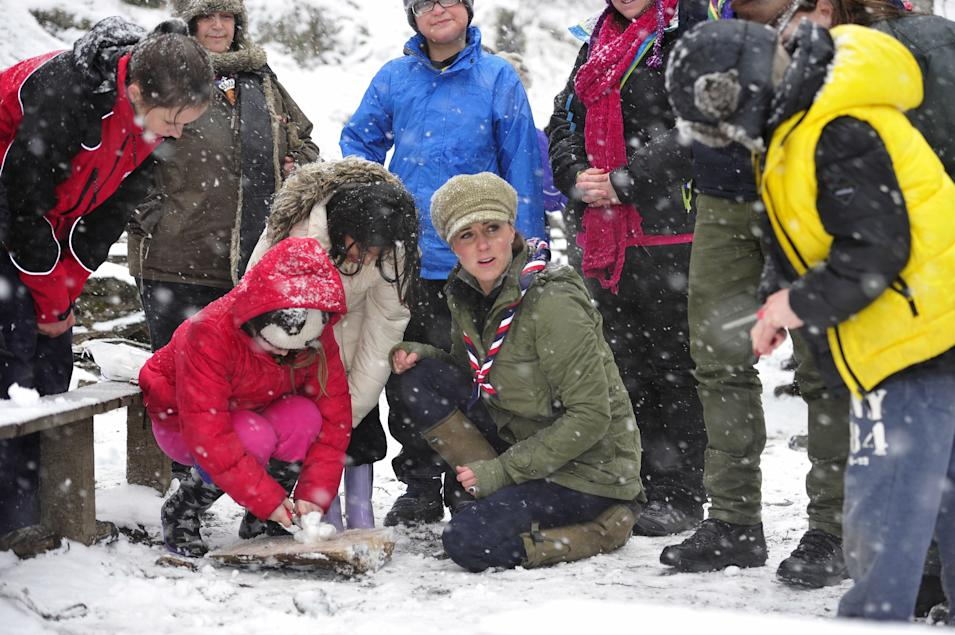 The Duchess Of Cambridge Visits Great Tower Scout Camp