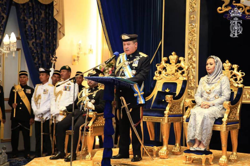 Johor Sultan Ibrahim Iskandar has accused Putrajaya today of going against the Federal Constitution in its move to ratify several core human rights conventions. — Picture via Facebook/HRH Crown Prince of Johor
