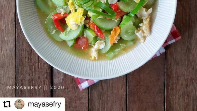 ilustrasi resep cah timun telur/instagram: @kumpulanresepmasak