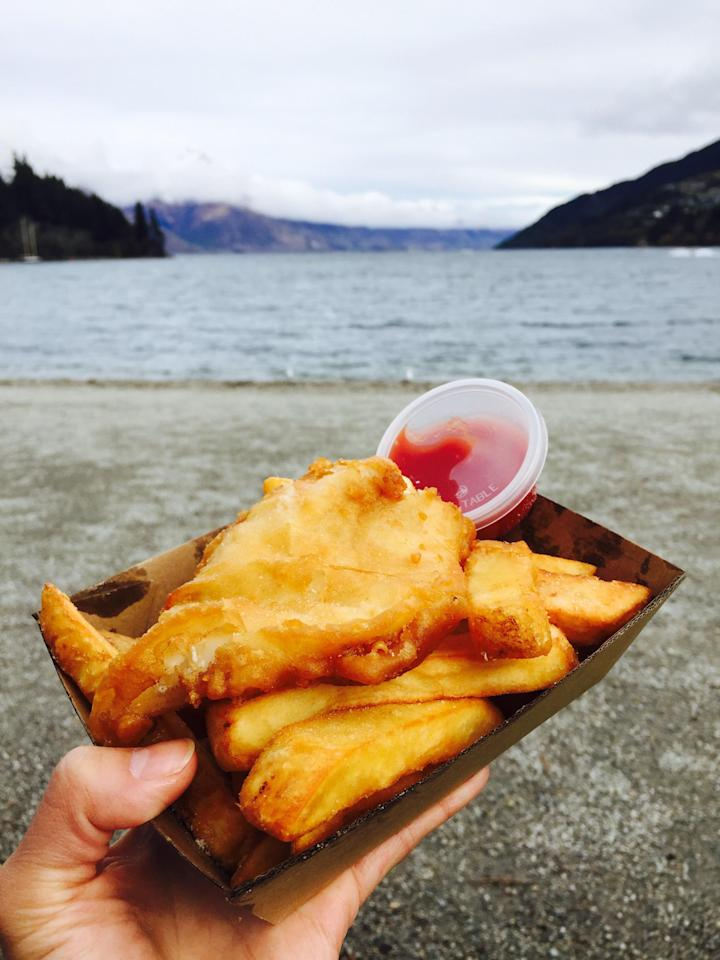 <p>Give a New Zealand twist to an old favourite by ordering South Island-sourced Blue Cod at Queenstown iconic eat, Erik's Fish and Chips. Bonus: the food truck is only 100 metres from the main beach, so head down there for lunch with a view.</p>