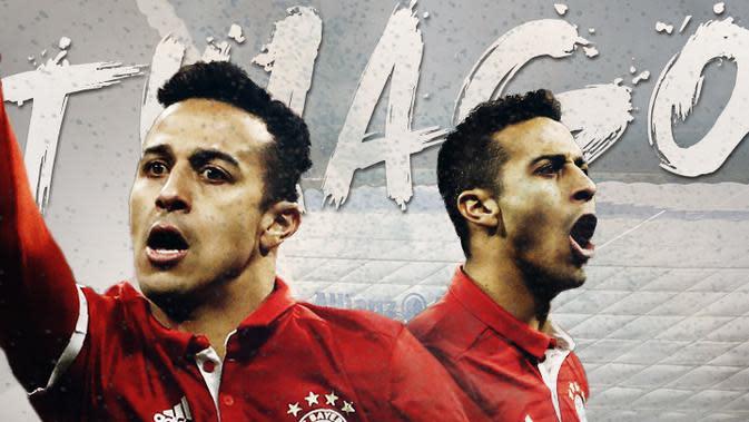 Pemain Bayern Munchen: Thiago Alcantara. (Bola.com/Dody Iryawan)