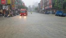 水流成河!台大時雨量209毫米破紀錄 北市災害應變中心一級開設