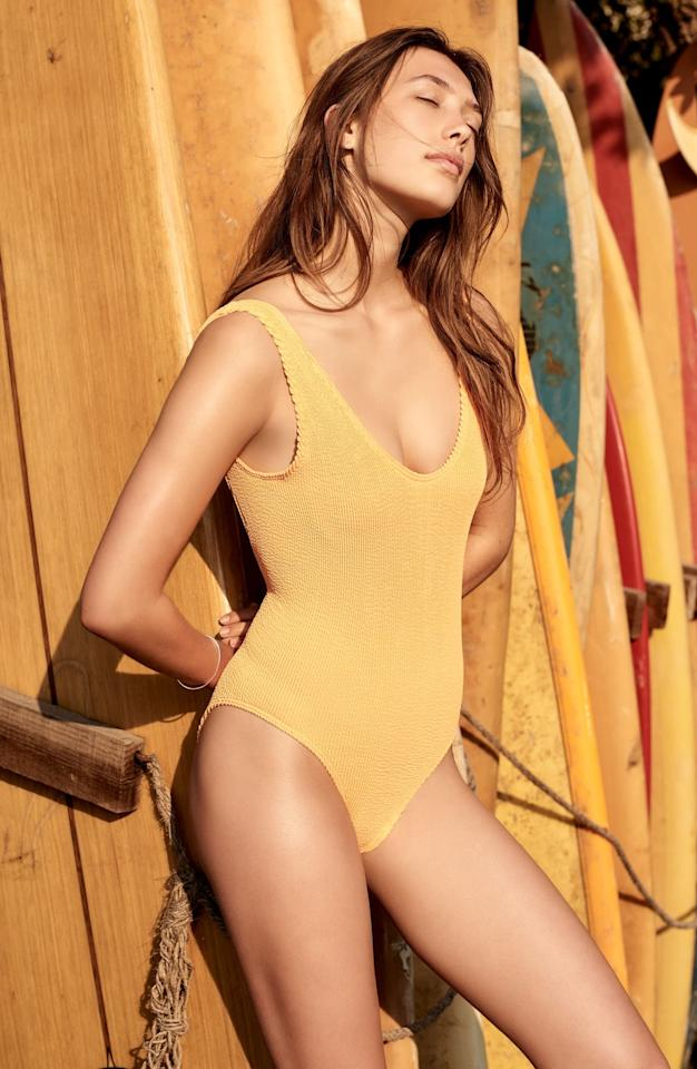 """<p>The stretchy material on this <a href=""""https://www.popsugar.com/buy/Bound-Bond-Eye-Swim-Mara-Ribbed-One-Piece-574196?p_name=Bound%20by%20Bond-Eye%20Swim%20Mara%20Ribbed%20One-Piece&retailer=shop.nordstrom.com&pid=574196&price=160&evar1=fab%3Aus&evar9=16316303&evar98=https%3A%2F%2Fwww.popsugar.com%2Fphoto-gallery%2F16316303%2Fimage%2F44659164%2FBound-Bond-Eye-Swim-Mara-Ribbed-One-Piece&list1=bikini%2Cshopping%2Cwinter%2Cspring%2Csummer%2Cswimwear%2Cspring%20fashion%2Csummer%20fashion%2Cwinter%20fashion%2Cultimate%20guide%2Cswimsuits%2Cbikinis&prop13=api&pdata=1"""" rel=""""nofollow"""" data-shoppable-link=""""1"""" target=""""_blank"""" class=""""ga-track"""" data-ga-category=""""Related"""" data-ga-label=""""https://shop.nordstrom.com/s/bound-by-bond-eye-the-mara-ribbed-one-piece-swimsuit/4819540?origin=coordinating-4819540-0-2-PDP_1_NN_RERANK-recbot-also_viewed_graph&amp;recs_placement=PDP_1_NN_RERANK&amp;recs_strategy=also_viewed_graph&amp;recs_source=recbot&amp;recs_page_type=product&amp;recs_seed=5633381&amp;color=NEON%20ORANGE"""" data-ga-action=""""In-Line Links"""">Bound by Bond-Eye Swim Mara Ribbed One-Piece</a> ($160) forms to your body.</p>"""