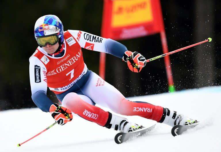 A flawless second run saw Alexis Pinturault win the  Garmisch giant slalom