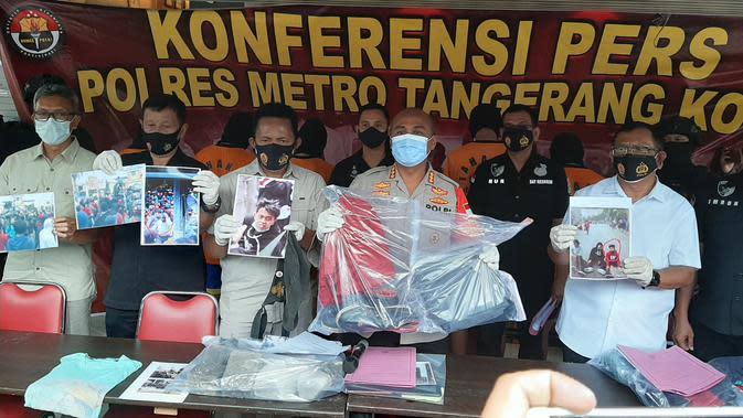 Polisi Tetapkan 4 Pelajar Jadi Tersangka Aksi Anarkis Demo UU Cipta Kerja di Tangerang