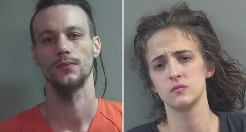 Bo Cosens, 29, and Rachel Sharrock, 25, allegedly baked biscuits baked with laxatives and gave them to nearby protestors. They were angry about the noise from the protest. Source: WKYC Channel 3