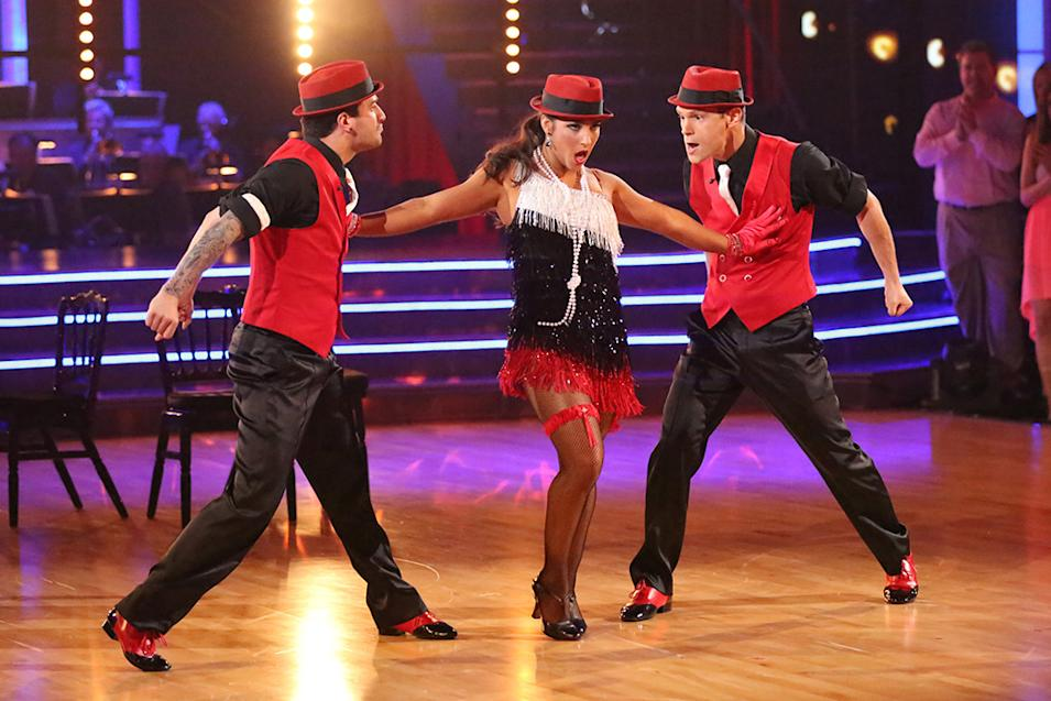 Mark Ballas, Alexandra Raisman and Henry Byalikov (5/6/13)