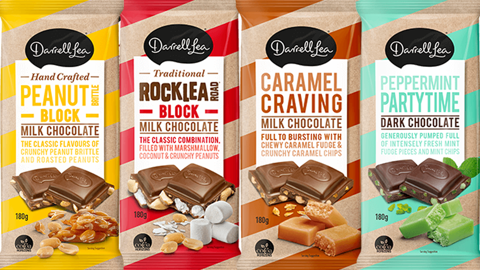 Darrell Lea has expanded its confectionary offering with a game-changing range of six new chocolate blocks. Picture: Darrell Lea