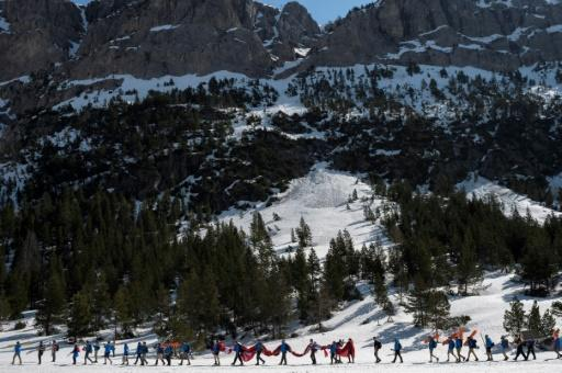 In April, far-right activists from Generation Identitaires formed a human chain to block migrants from entering France at the Echelle pass in the Alps
