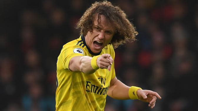 Bek Arsenal, David Luiz (Twitter Arsenal)