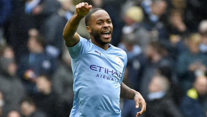 Penyerang Manchester City, Raheem Sterling. (AP/Rui Vieira)