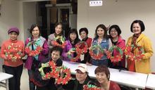 費鴻泰團隊社區推廣DIY手作聖誕裝飾